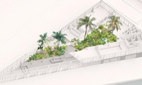 Hotel Jakarta subtropische tuin_bovenaanzicht